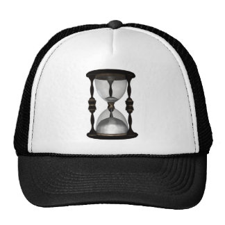 Halftone Hourglass Sand Timer Trucker Hat