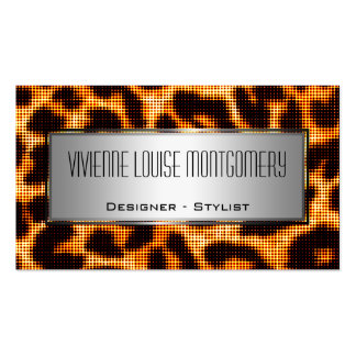 Halftone Leopard Print Professional Business Card Business Card Template