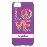 Halftone LOVE=Peace Case For iPhone 5C