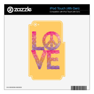 Halftone LOVE=Peace Decal For iPod Touch 4G