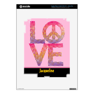 Halftone LOVE=Peace Decals For iPad 3