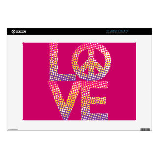 Halftone LOVE=Peace Decals For Laptops