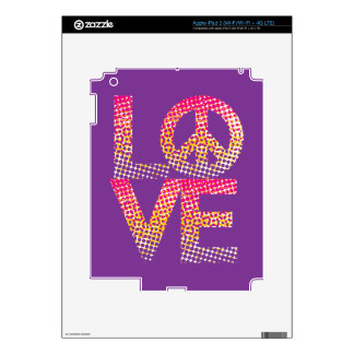 Halftone LOVE=Peace iPad 3 Skin