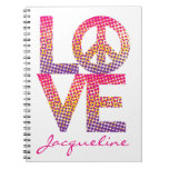 Halftone LOVE=Peace Notebooks