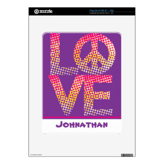 Halftone LOVE=Peace Skins For iPad