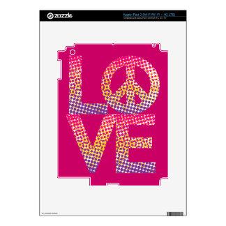 Halftone LOVE=Peace Skins For iPad 3