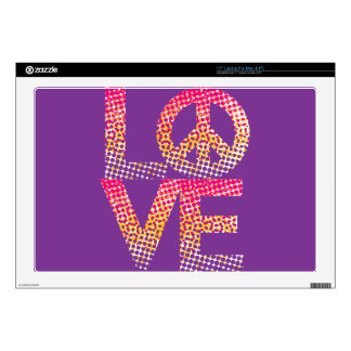 Halftone LOVE=Peace Skins For Laptops