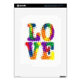 Halftone Love Skins For iPad 3