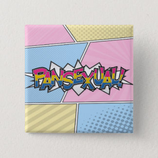 Halftone Pansexual Typography Button