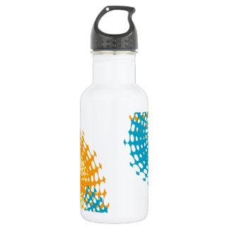 Halftone pattern art stainless steel water bottle