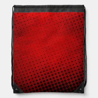 Halftone pattern background drawstring bag