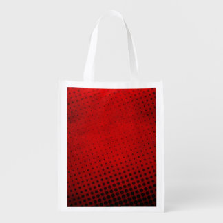 Halftone pattern background grocery bag