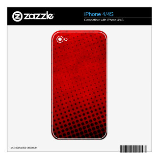 Halftone pattern background iPhone 4S decal