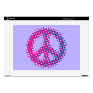 "Halftone Peace Symbol 15"" Laptop Decal"