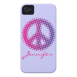 Halftone Peace Symbol iPhone 4 Cover