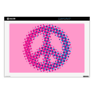 Halftone Peace Symbol Decal For Laptop
