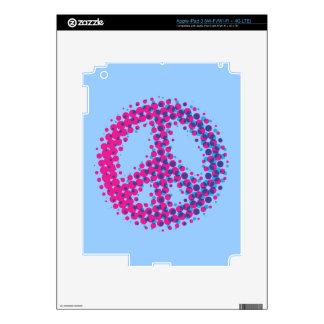 Halftone Peace Symbol iPad 3 Skin