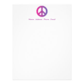 Halftone Peace Symbol Letterhead
