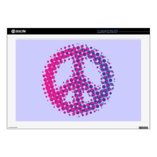 "Halftone Peace Symbol Skin For 17"" Laptop"