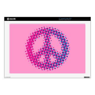 "Halftone Peace Symbol Skins For 17"" Laptops"