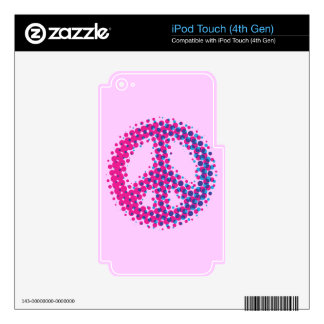 Halftone Peace Symbol Skins For iPod Touch 4G