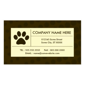 halftone pet paw business card template