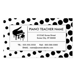 halftone piano business card