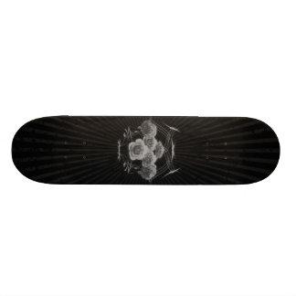 Halftone Roses & Tribals: Custom Skateboard