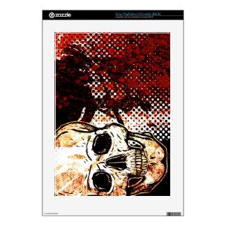 Halftone Skull PS3 Console Skin