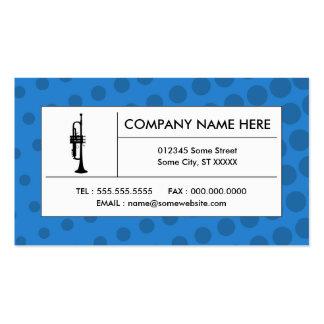 halftone trumpet business card