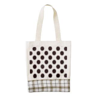 Halftones Dots Diamonds Zazzle HEART Tote Bag