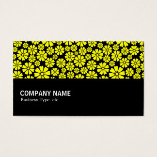 Halfway - 8 Petals - Yellow on Black Business Card