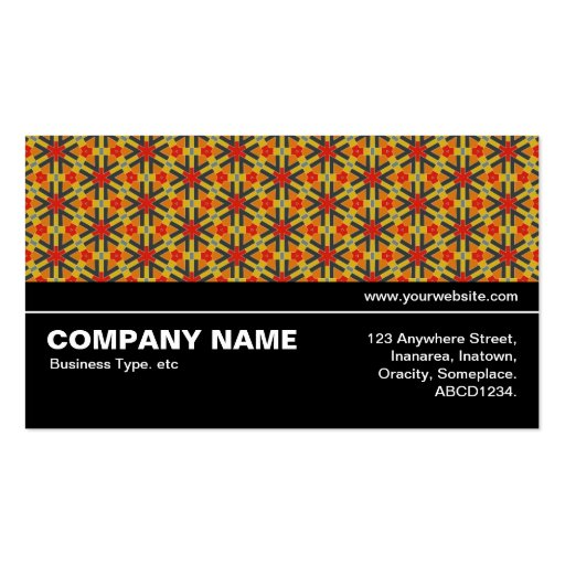 Halfway V3 016 - Geometric Pattern 02 Business Card