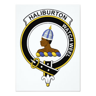 Haliburton Clan Badge Card