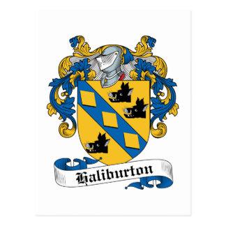 Haliburton Family Crest Postcard