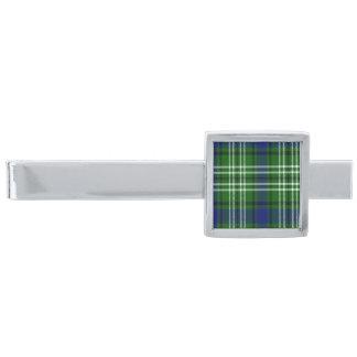 Haliburton Scottish Tartan Silver Finish Tie Clip