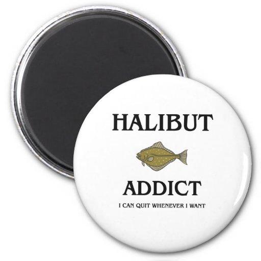 Halibut Addict Refrigerator Magnets