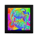 Halibut coloreado arco iris cajas de regalo