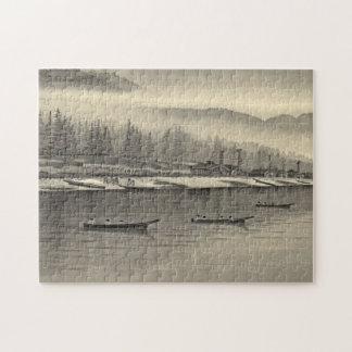 Halibut de los esquimales que pesca Alaska 1874 Puzzles