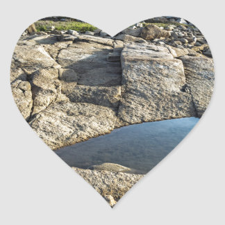 Halibut Point Before Sunset Heart Sticker