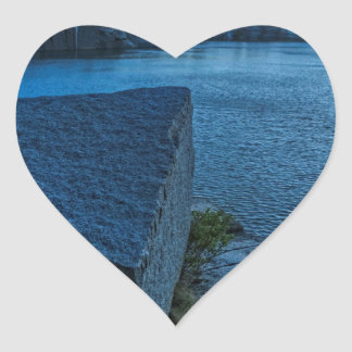 Halibut Point Quarry Twilight Heart Sticker