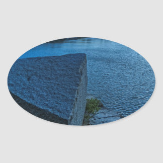 Halibut Point Quarry Twilight Oval Sticker