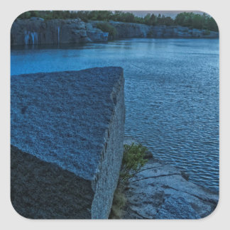 Halibut Point Quarry Twilight Square Sticker