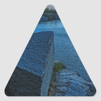 Halibut Point Quarry Twilight Triangle Sticker