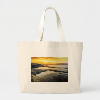 Halibut Point Sunset Large Tote Bag
