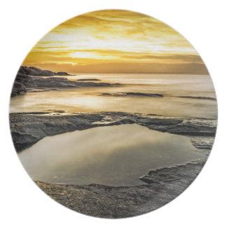 Halibut Point Sunset Melamine Plate