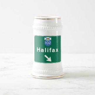 Halifax, Canada Road Sign Beer Stein