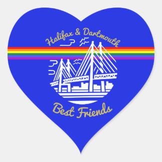 Halifax & Dartmouth best friends Pride sticker