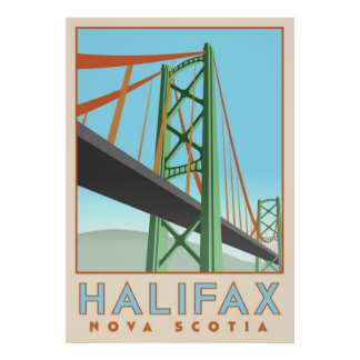 Halifax Deco Poster