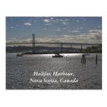 Halifax Harbour with  A. Murray MacKay Bridge Postcard